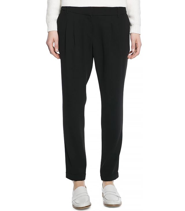 Mango Pleated Baggy Trousers