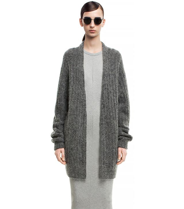 Acne Studios Raya Short Rib Grey Melange Sweater