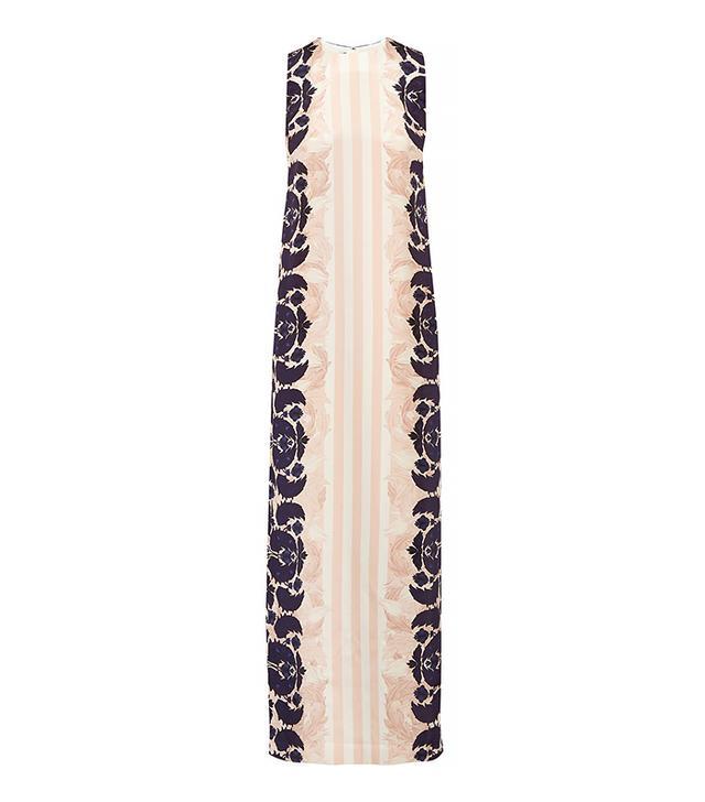 Mother Of Pearl Aspen Silk Crepe De Chine Maxi Dres