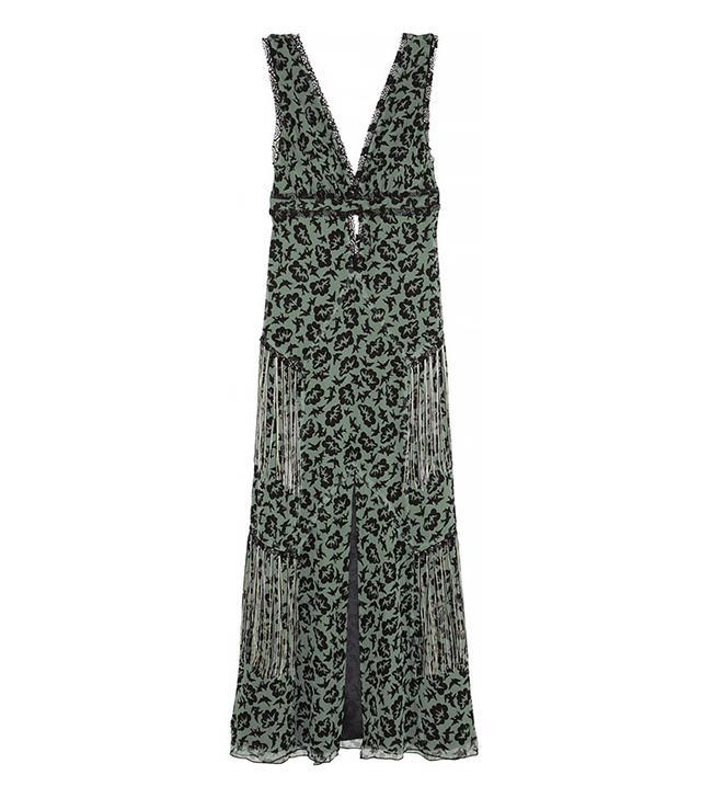 Anna Sui Printed Silk-Chiffon Maxi Dress