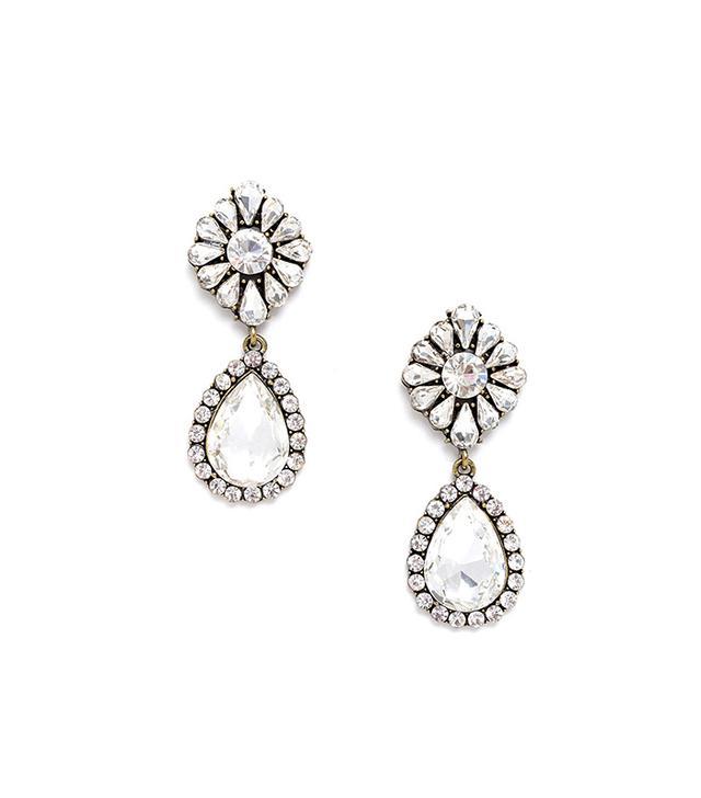 Jeweliq Crystal Fusion Drop Earrings