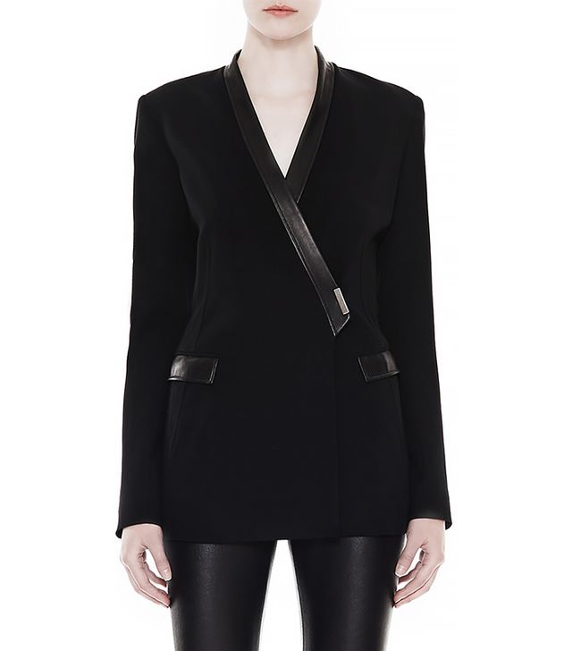 Helmut Lang Palm Suiting Seamed Blazer