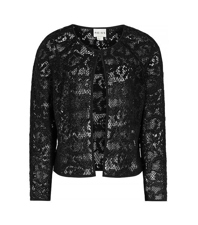Reiss Charlene Lace Cropped Jacket