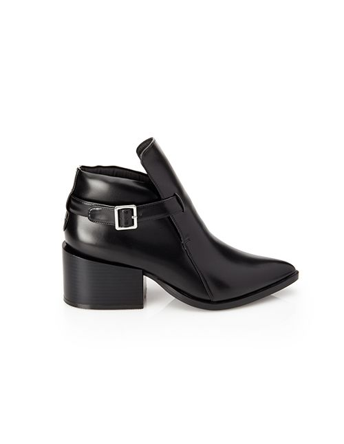 Forever 21 Pointed Faux Leather Booties