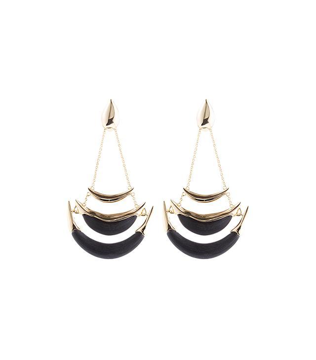 Alexis Bittar Kinshasa Stacked Crescent Clip Earrings