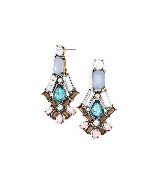 BaubleBar Emerald Aquaris Drop Earrings