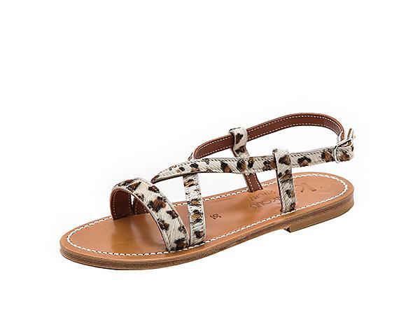 K Jacques Flavia Crisscross Sandals