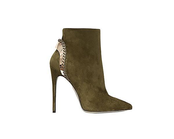 Daniele Michetti Suede Boots with Gold Plaque