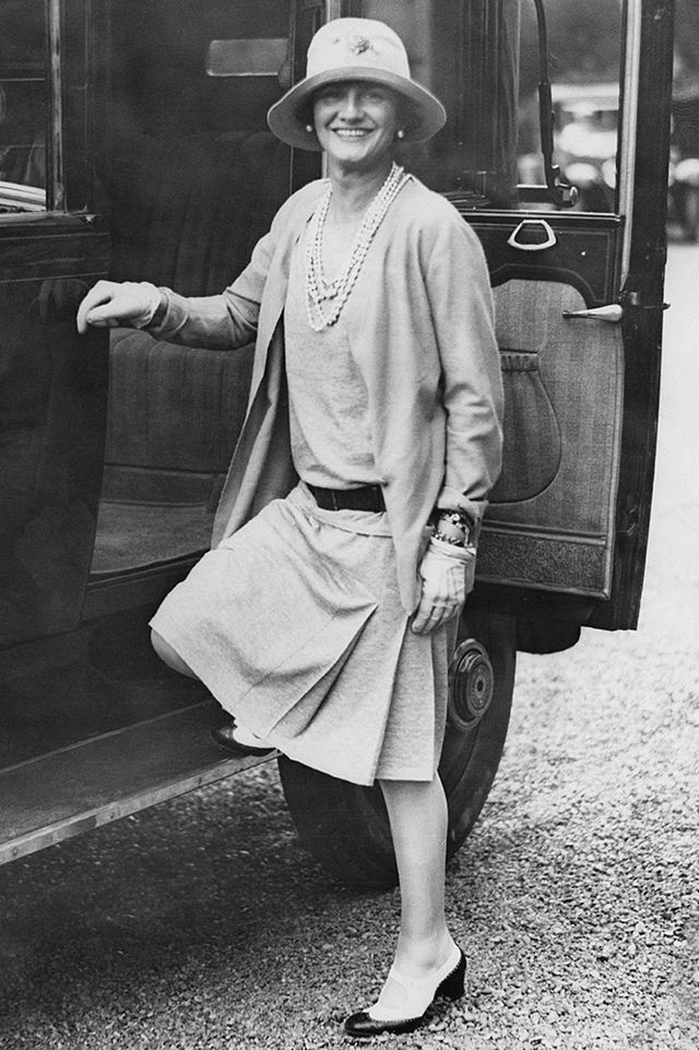 <p><em>Coco Chanel in the French seaside resort of Biarritz, 1928</em></p>