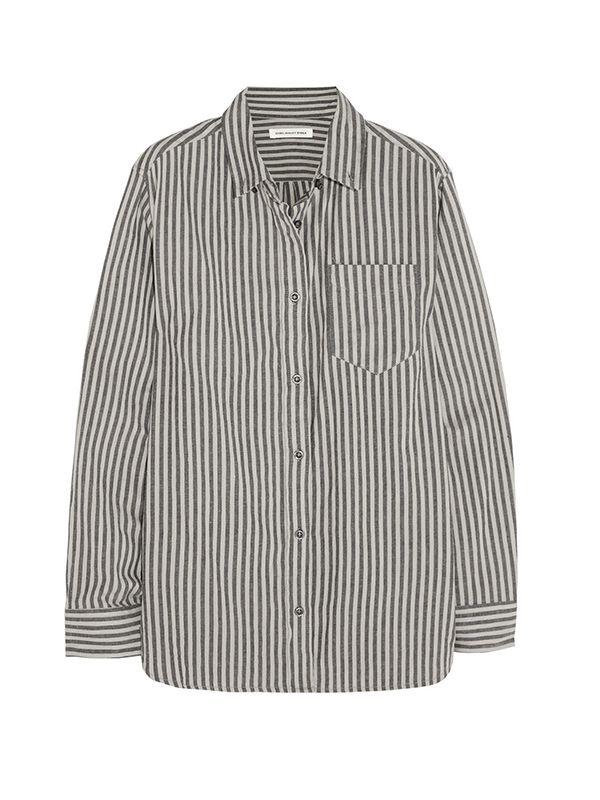 Etoile Isabel Marant Waida Oversized Striped Cotton Shirt