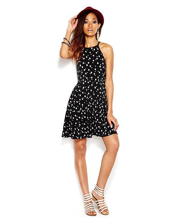 Bar 111 Polka-Dot Halter Dress