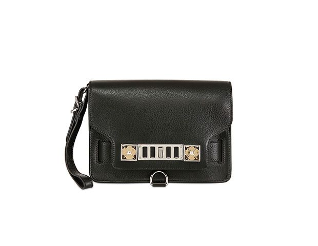 Proenza Schouler PS11 Grained Leather Clutch