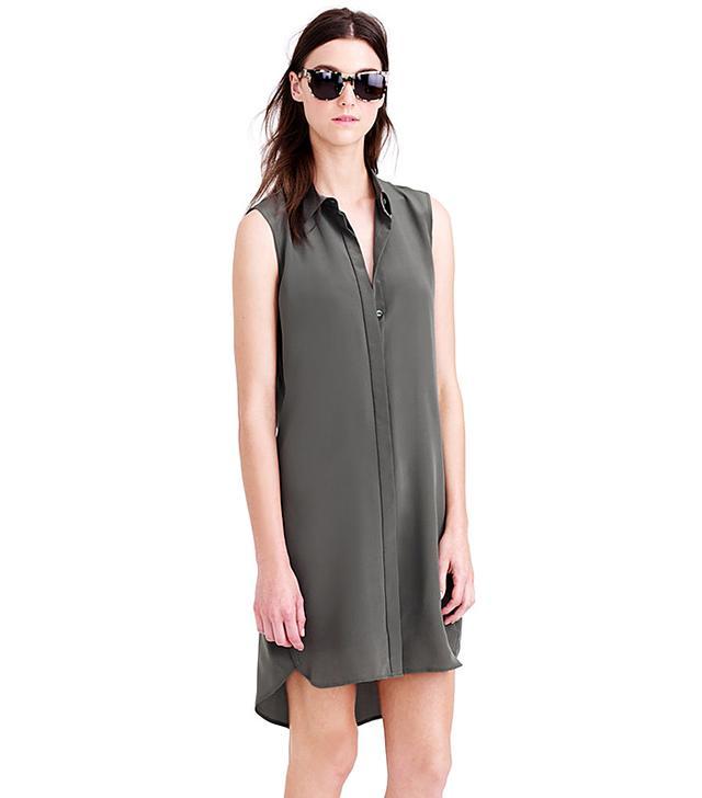 J. Crew Petite Silk Sleeveless Dress