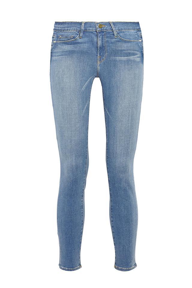 Frame Denim Le Skinny de Jeanne Crop Mid Rise Jeans
