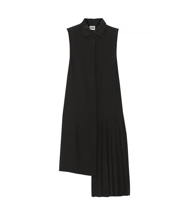 Oak Asymmetric Stretch-Silk Shirt Dress