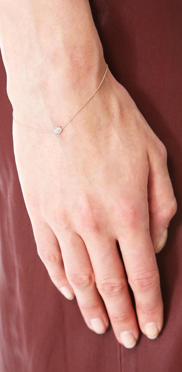 Ginette NY Mini Diamond Lotus Bracelet