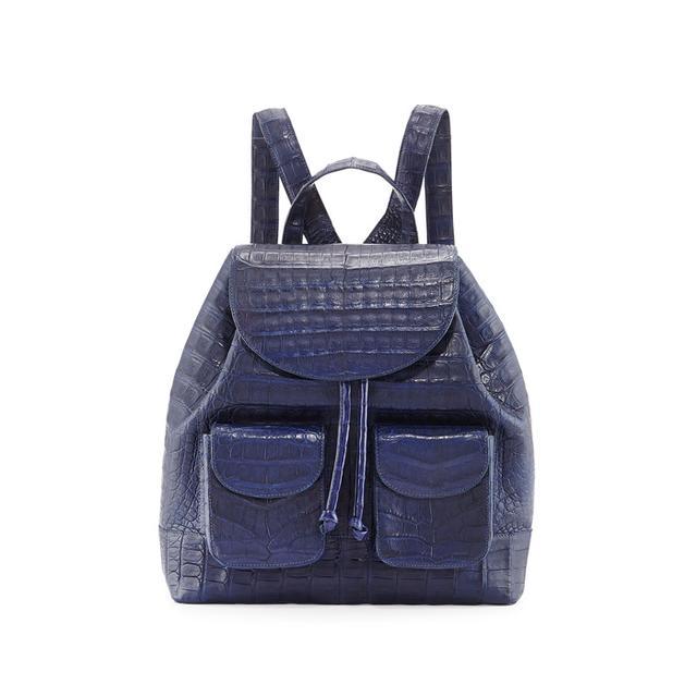 Nancy Gonzalez Crocodile Drawstring Backpack