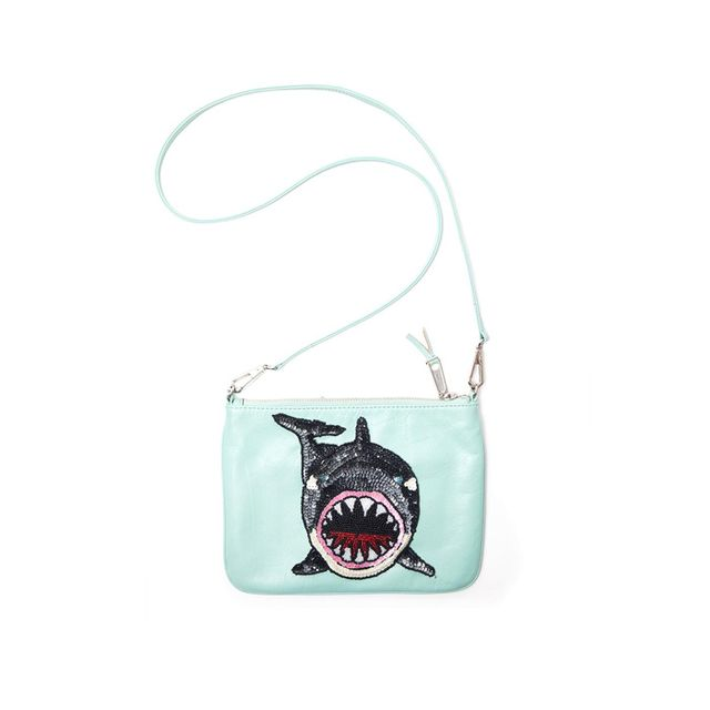 PS I Made This Sequin & Bead Shark Patch Kit