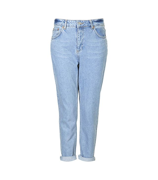 Topshop Petite Moto Mum Jeans