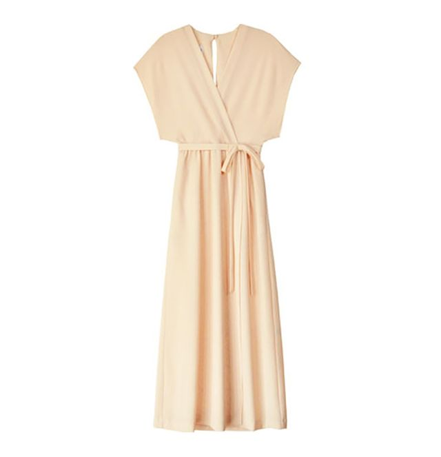 Odylyne Apricot Sparrow Wrap Dress