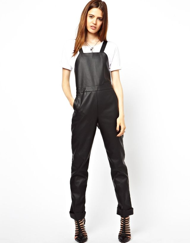 ASOS ASOS Overalls in Leather Look