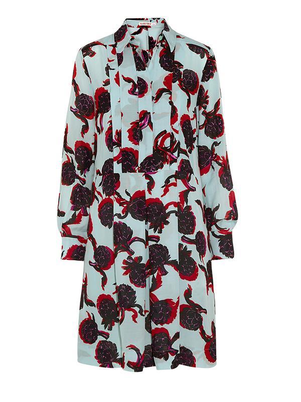 See by Chloe Printed Georgette Shirt Dress