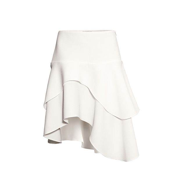 H&M Asymmetrical Tiered Skirt
