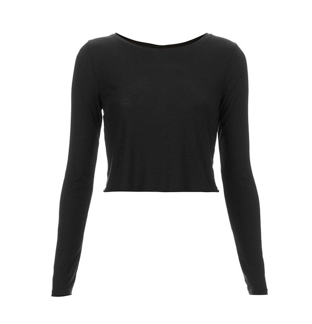 Topshop Long-Sleeved Crop Top