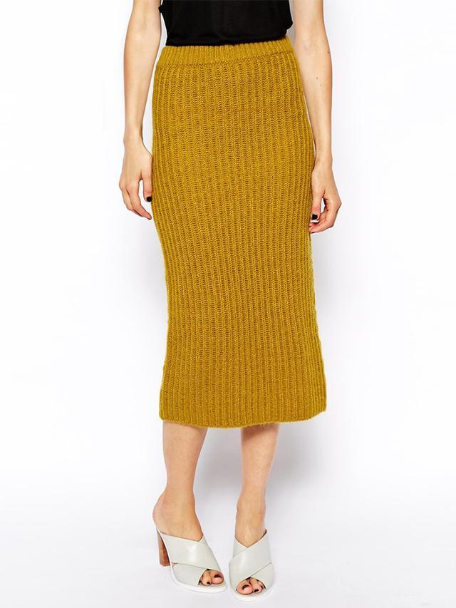 ASOS Knitted Rib Skirt