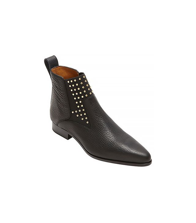 Chloé Gold Studded Chelsea Boots