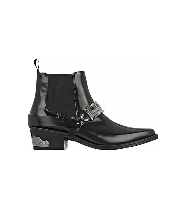 Toga Pulla Embellished Leather Chelsea Boots