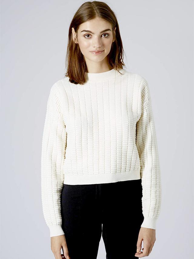 Topshop Ridge Stitch Sweater