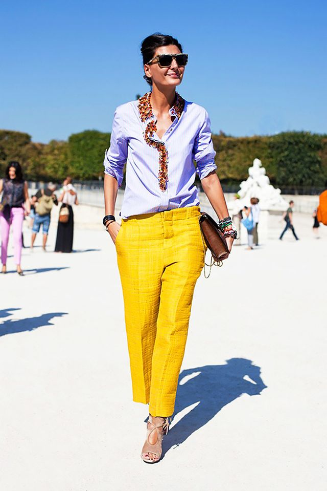 Play with a pop of colour.