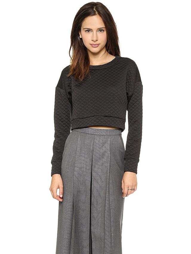 Charles Henry Crop Quilted Pullover