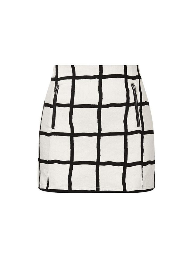 Topshop Window Pane Pelmet Skirt