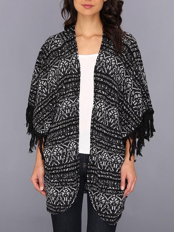 Free People Patterned Kimono Cardi