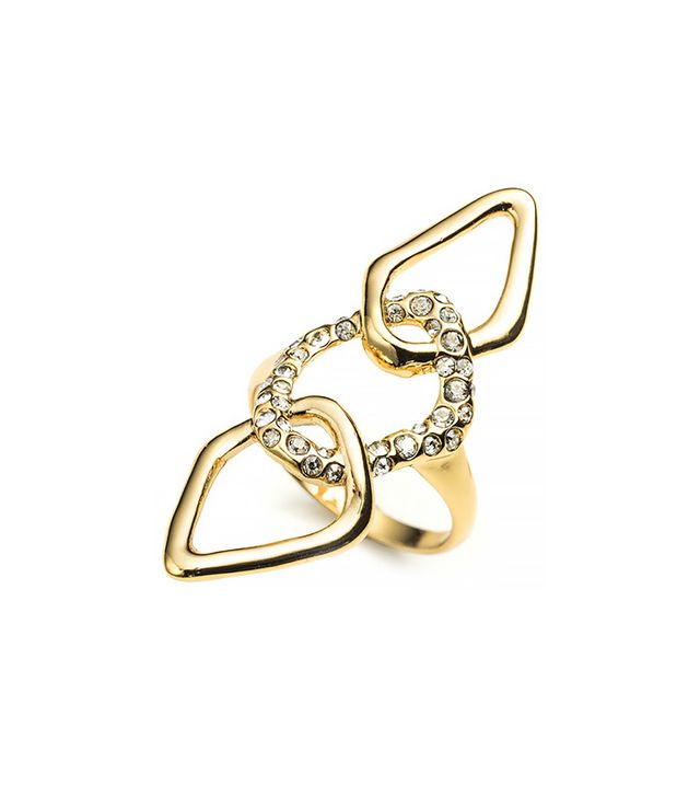 Alexis Bittar Kinetic Gold Encrusted Link Ring