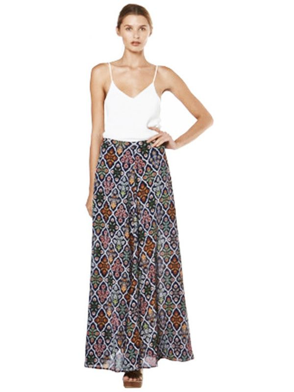 Tigerlily Bouquet Floral Maxi Skirt