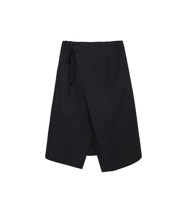 Y'S Faux Wrap Skirt