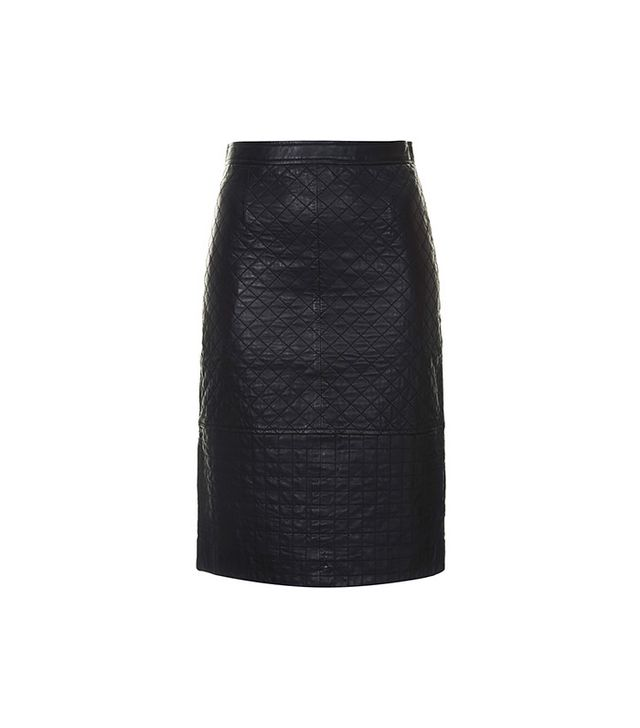 Topshop Quilted Leather Pencil Skirt