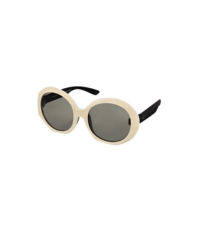 Karl Lagerfeld and Italia Independent Velvet Round Sunglasses