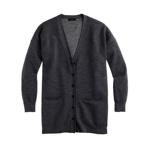 J.Crew Double-Knit Merino Wool Long Cardigan