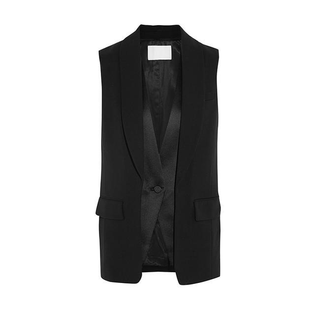Alexander Wang Wool-Blend And Satin Vest