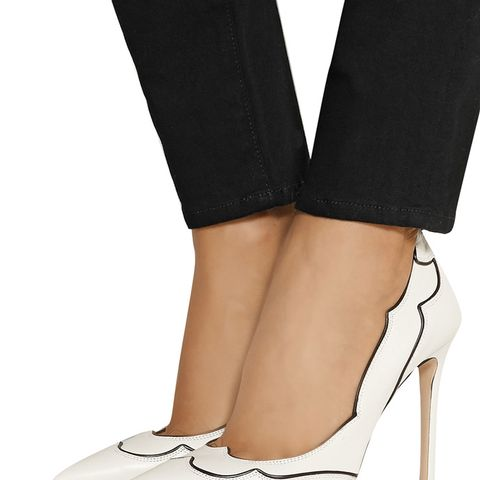 Two-Tone Leather Pumps