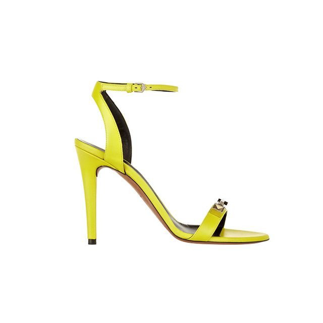 Proenza Schouler Embellished Neon Leather Sandals