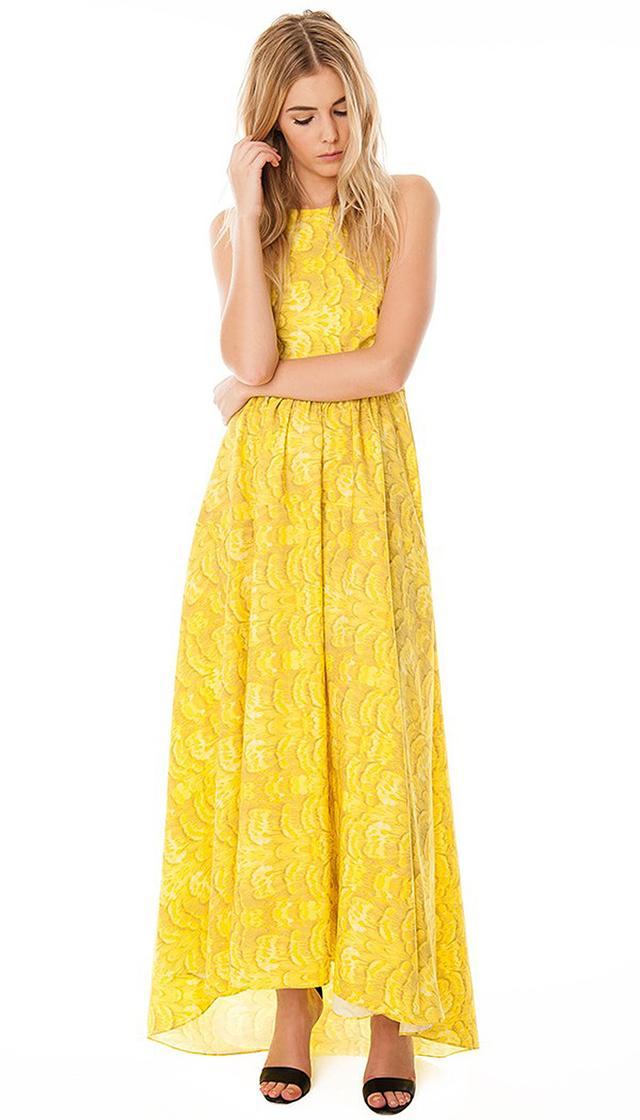 Tibi Ibis Strappy Long Dress