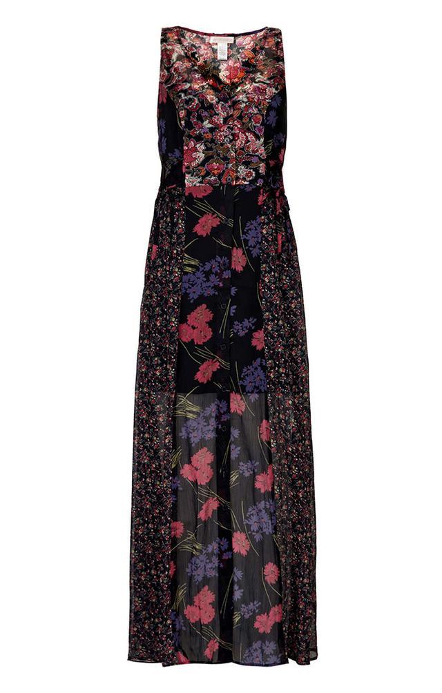 Topshop Mixed Print Maxi Dress By Band Of Gypsies