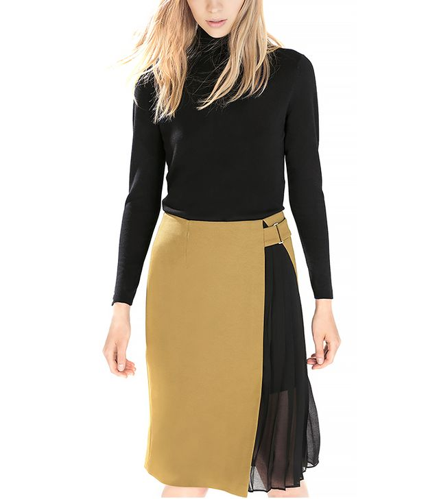 Zara Skirt with Side Pleats