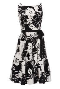 Wallis  Black Floral Print Dress