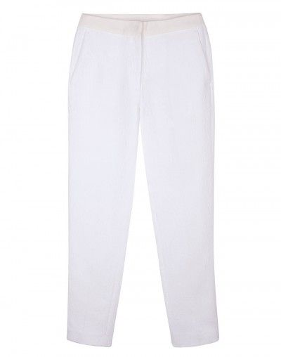 Sandro  Personne White Brocade Trousers
